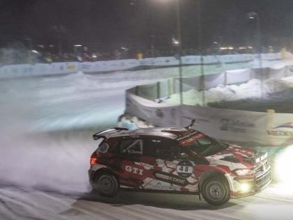 GP Ice Race: Spektakuläres Eisrennen Röhrl, Rast und Co. zeigen Driftkünste