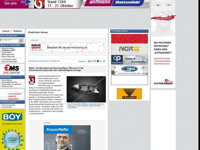 BASF: Hochtemperaturbeständiges Ultrason E für Scheinwerfersysteme mit aufwändigem Design
