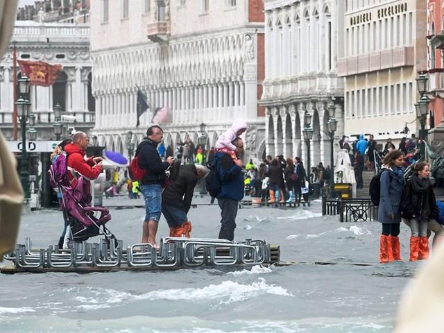 """""""Acqua alta"""": Wieder einmal Hochwasser in Venedig"""