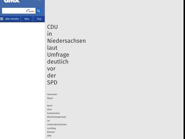 CDU in Niedersachsen laut Umfrage deutlich vor der SPD