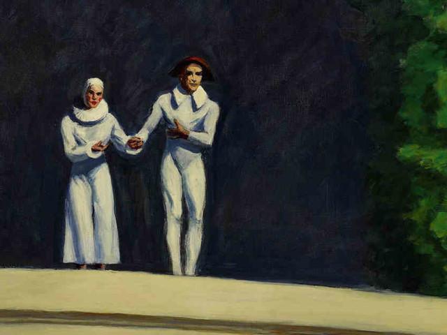 """""""Two Comedians"""" von Edward Hopper: Wenn dieses Bild sprechen könnte!"""
