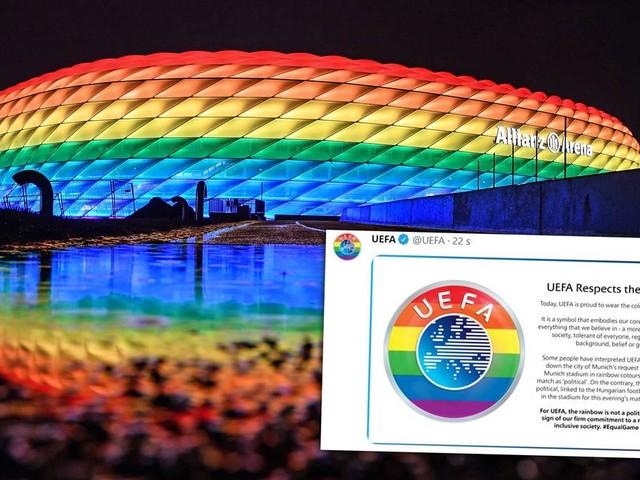UEFA zeigt sich auf Social Media in Regenbogenfarben – Kritik an München