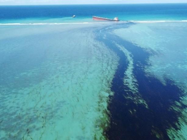 Frachter vor Mauritius verliert Öl - Umweltnotstand ausgerufen