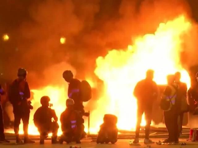 Video: Proteste in Barcelona halten an