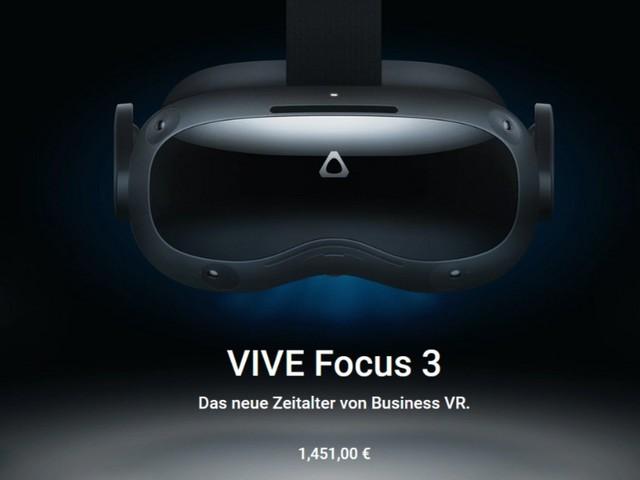 HTC Vive Focus 3: Eigenständiges VR-System mit 5K-Auflösung für Enterprise-Kunden enthüllt