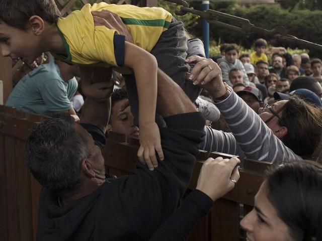 Tumulte beim einzigen öffentlichen WM-Training der Seleção