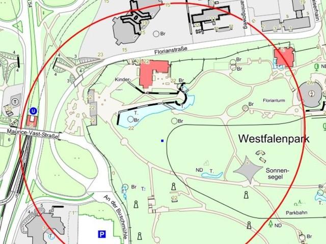 Bombenfund: Entschärfung von drei Blindgängern im Westfalenpark - keine Anwohner*innen betroffen