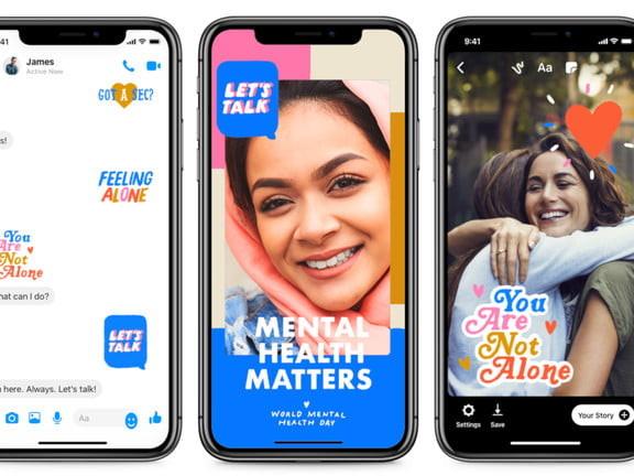 Welttag psychischer Gesundheit: Facebook stellt neue Sticker vor