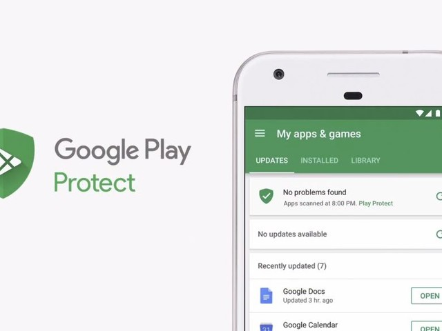 Google Play Protect landet im Play Store