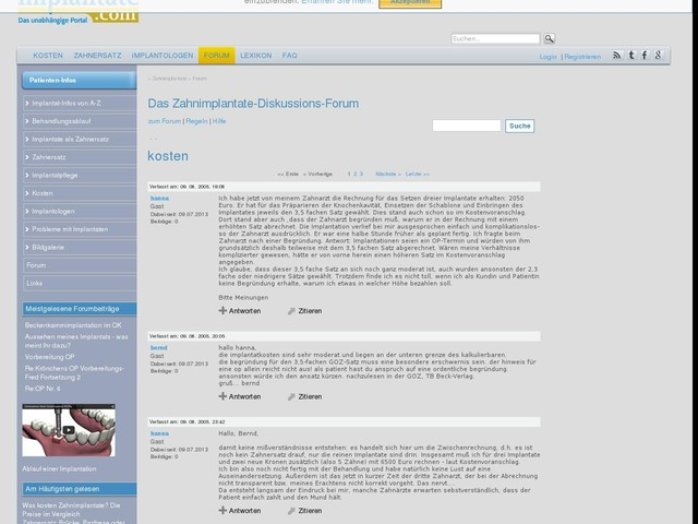 kosten (10665) - Forum - implantate.com