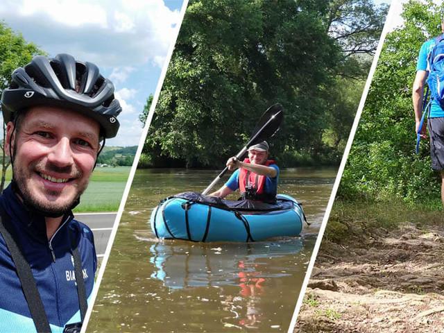 Outdoor Erlebnisse an der Nahe: Wandern, Radfahren & Packrafting (Video)