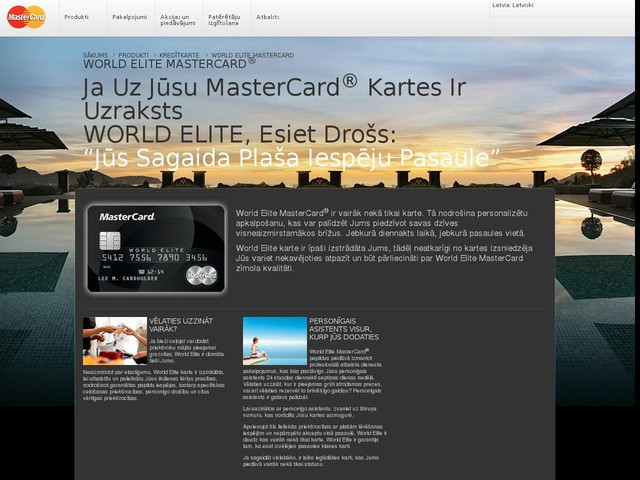 World Elite MasterCard Credit Cards | MasterCard®