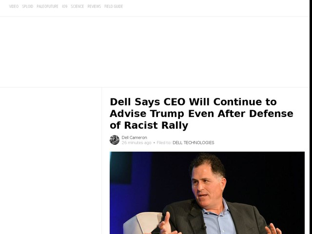 Dell Says CEO Will Continue to Advise Trump Even After Defense of Racist Rally