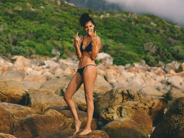 'The Girl with the Golden Gun' – Model Malaika at Kogel Bay Beach // Cape Town