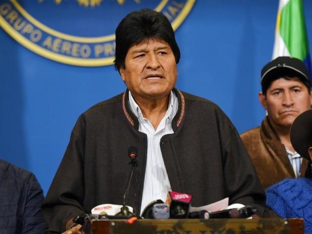 Bolivianischer Präsident Morales kündigt seinen Rücktritt an