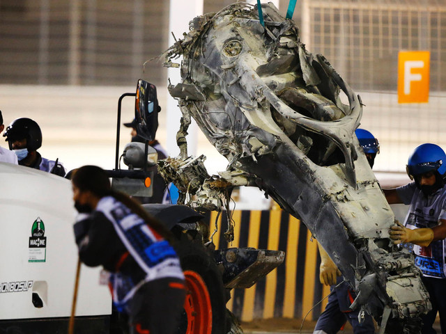 """Formel 1: Horror-Crash in Bahrain – dieser """"Heiligenschein"""" rettete Grosjean"""
