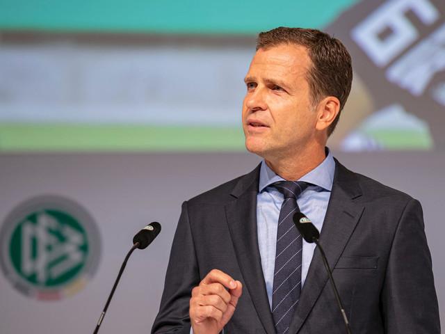 Auf dem DFB-Bundestag: Oliver Bierhoff will deutschen Fußball zurück in die Weltspitze führen.