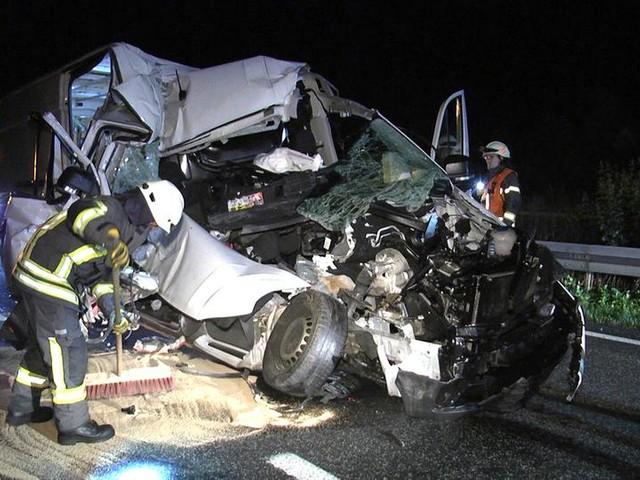 Bad Hersfeld: Transporterfahrer bei Unfall auf A4 schwer verletzt