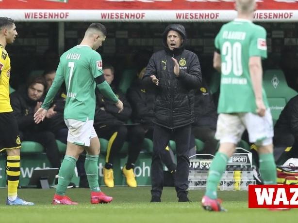 Borussia Dortmund: BVB-Trainer Favre lobt geduldigen Auftritt in Bremen