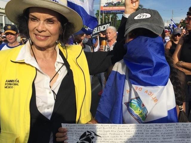 """Bianca Jagger: """"Nicaraguas Präsident Daniel Ortega ist ein brutaler Mörder"""""""