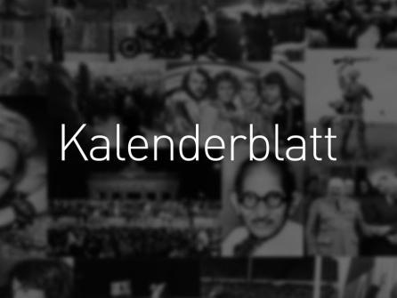Kalenderblatt 2019: 16. September