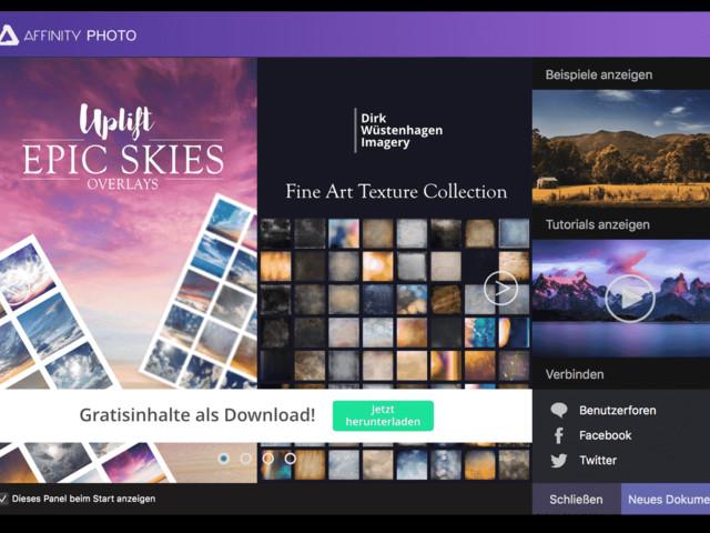 Tipp: Affinity Apps für Mac und Windows mit kostenlosen Erweiterungen