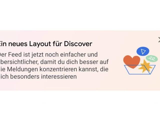Update für Google Discover: Neues Layout, Showcase und weitere Artikel