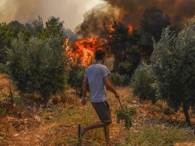 Viele Brände in Türkei und Italien, historische Hitzewelle in Griechenland