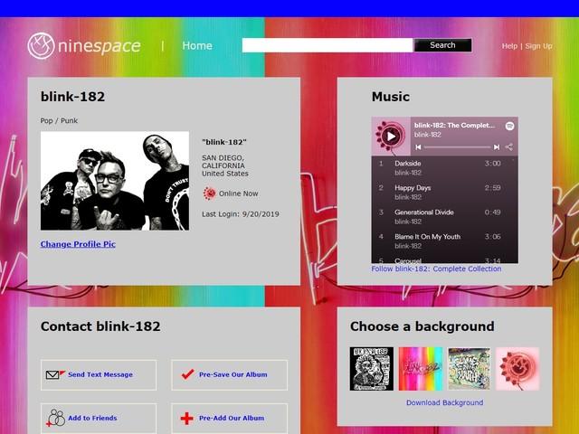 Blink-182 bewerben neues Album mit an MySpace angelehnter Webseite