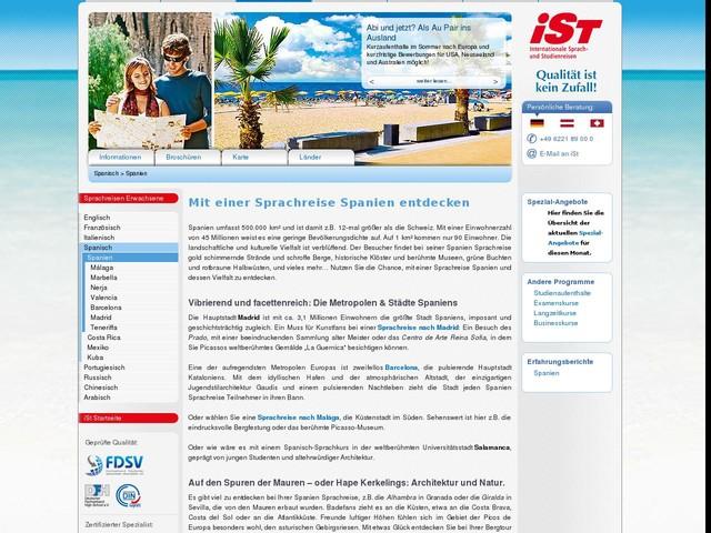 Sprachreise Spanien - Spanisch-Sprachkurse - Sprachschulen in Spanien - iSt - Sprachreisen für Erwachsene
