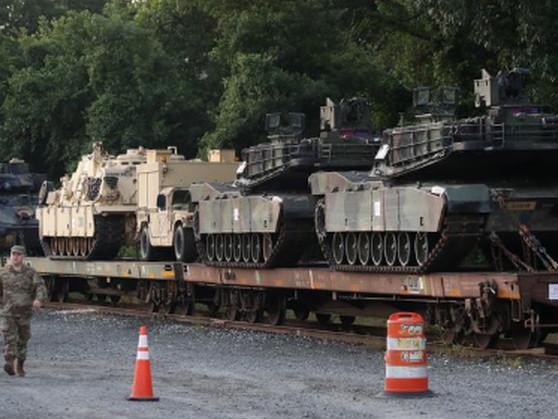 Heute werden Panzer durch Washington rollen