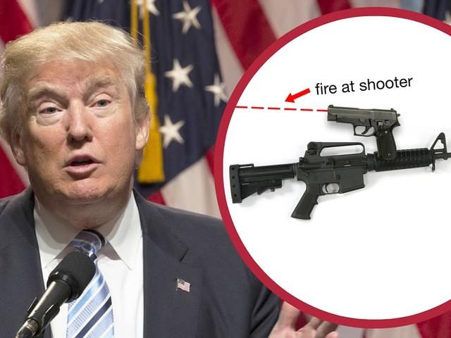 Trump will Waffen bewaffnen, damit sie sich dagegen wehren können, in Amokläufen benutzt zu werden