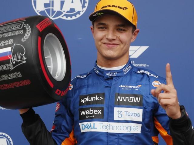 Formel-1-Sensation in Sotschi: Pole für McLaren-Pilot Lando Norris