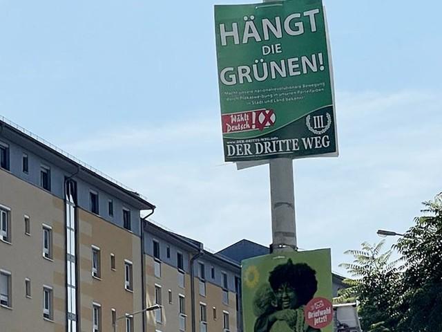 """Urteil zu """"Hängt die Grünen""""-Wahlplakate: Zu viel Feinsinn für Rechtsextreme"""