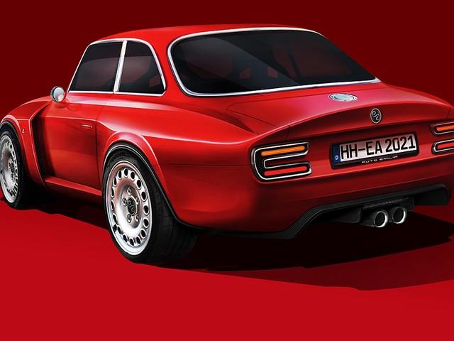 Alfa Giulia GT (2021): Emilia GT Veloce Restomod Alfa Giulia GT mit 510-PS-Sechszylinder aus der aktuellen Giulia QV