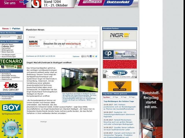 Engel: MuCell-Zentrum in Stuttgart eröffnet
