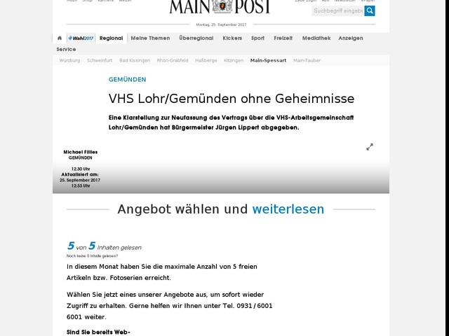 VHS Lohr/Gemünden ohne Geheimnisse
