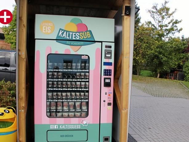 Gastronomie: Automat in Brilon verkauft Bio-Spaghettieis im Becher