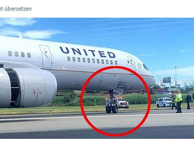 United Airlines: Harte Landung in New York: Fahrwerk bohrt sich beim Aufsetzen in die Kabine