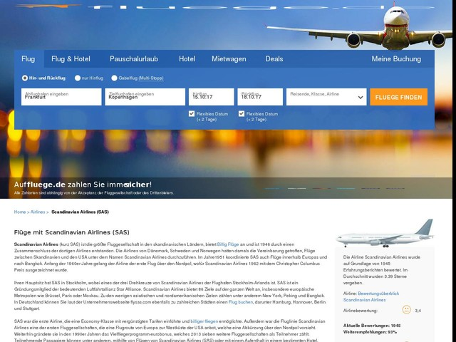 Scandinavian Airlines (SAS) (SK) Flüge buchen | fluege.de