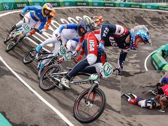 Sorge um Fields und Sakakibara: Schwere Stürze überschatten BMX-Rennen