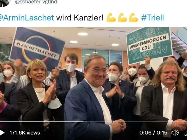 Skurriles Video nach dem Triell: Uschi Glas und Leslie Mandoki feiern Armin Laschet