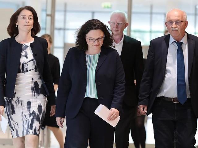 Beben nach Europawahl - Nahles kündigt Rücktritt als SPD- und Fraktionschefin an