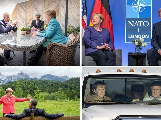 16 Jahre Amtszeit, vier Präsidenten: Angela Merkels letzter Besuch im Weißen Haus