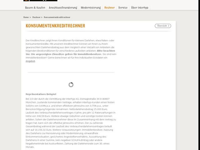 Konsumentenkreditrechner - Konsumentekredite berechnen