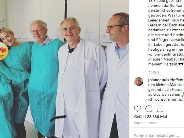 VIP-News - Vor 13 Jahren retteten Ärzte Sarah Connors Tochter das Leben - nun dankt sie rührend