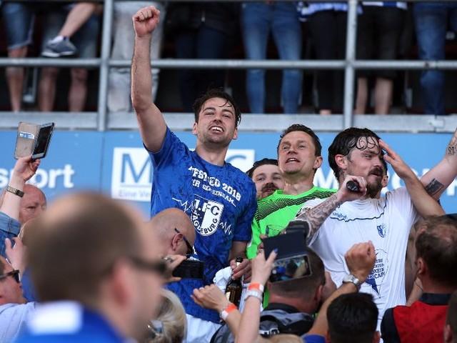 Magdeburgs Aufstieg in die Zweite Liga: Wilde Hüpfer