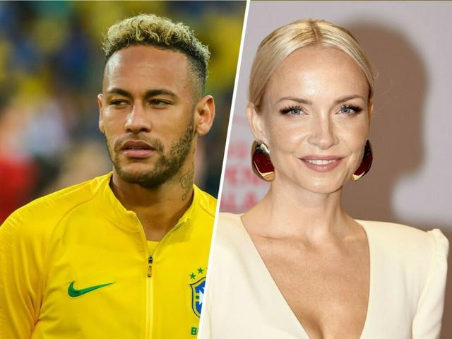 Wieder ein Selfie der beiden: Janin Ullmann und Neymar: Nur ziemlich beste Tribünenfreunde?