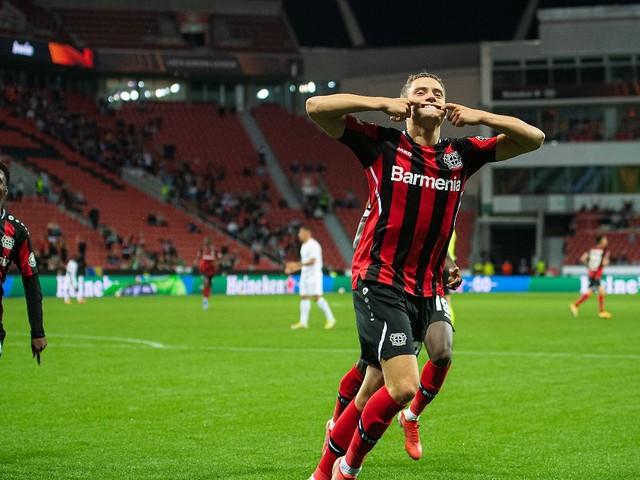 Erfolgreich in die Europa League: Traumtor ebnet Bayer Weg zum Comeback-Sieg