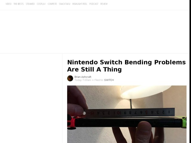 Nintendo Switch Bending Problems Are Still A Thing